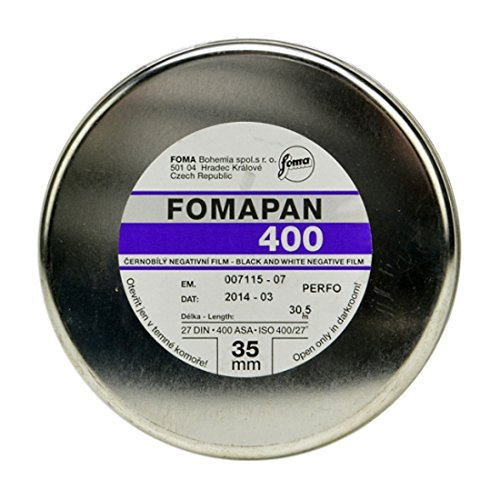 Foma Fomapan 400 ISO Black & White Negative Film, 35mm x 100 ft.