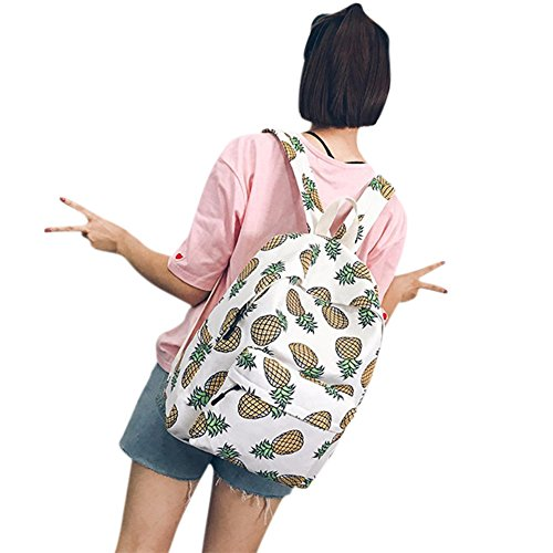 Student Fruit ShiningLove Rucksack Bag Shoulder Girls Schoolbag Pineapple Canvas Printing Backpack Cute H6H5n71x