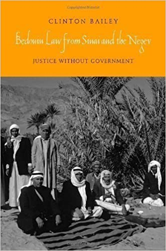 Bedouin Law from Sinai and the Negev: Justice without