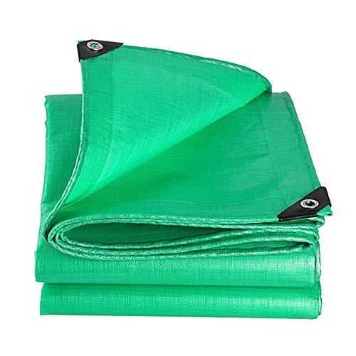 シェル名義でディーラーQIANGDA トラックシート荷台カバー耐摩耗性 防水 風 引裂抵抗 ポリエチレン (210g / m2、厚さ0.38mm)の様々なサイズ (色 : Green, サイズ さいず : 5.8 x 6.8m)