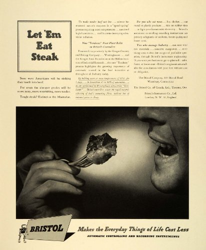 1942-ad-wwii-war-production-bristol-kroger-grocery-beef-ultraviolet-radiation-original-print-ad