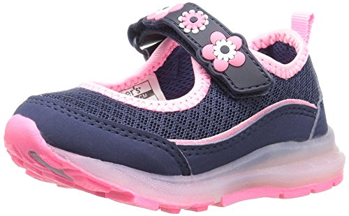 carter's Jenny Girl's Light-Up Mary Jane, Navy/Pink, 10 M US Toddler