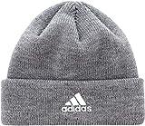 adidas Womens Team Issue Fold Beanie (One Size, Marled Grey Heather/White)
