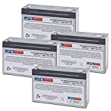 (4) 6V 12Ah F1 - Replacement battery set compatible with the Deltec PRC1000
