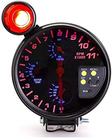 BXU-BG 車のトラックのボートのための5インチ12Vユニバーサルカー水温温度計、油温油圧タコメータ4では1車のゲージ