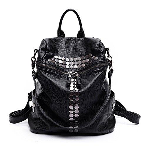 St.Roma - Bolso mochila  de Piel Sintética para mujer negro