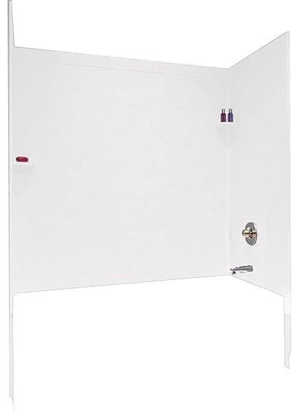 Swanstone SSIT-60-3-010 Tub Wall Kit With Integral Trim, White ...