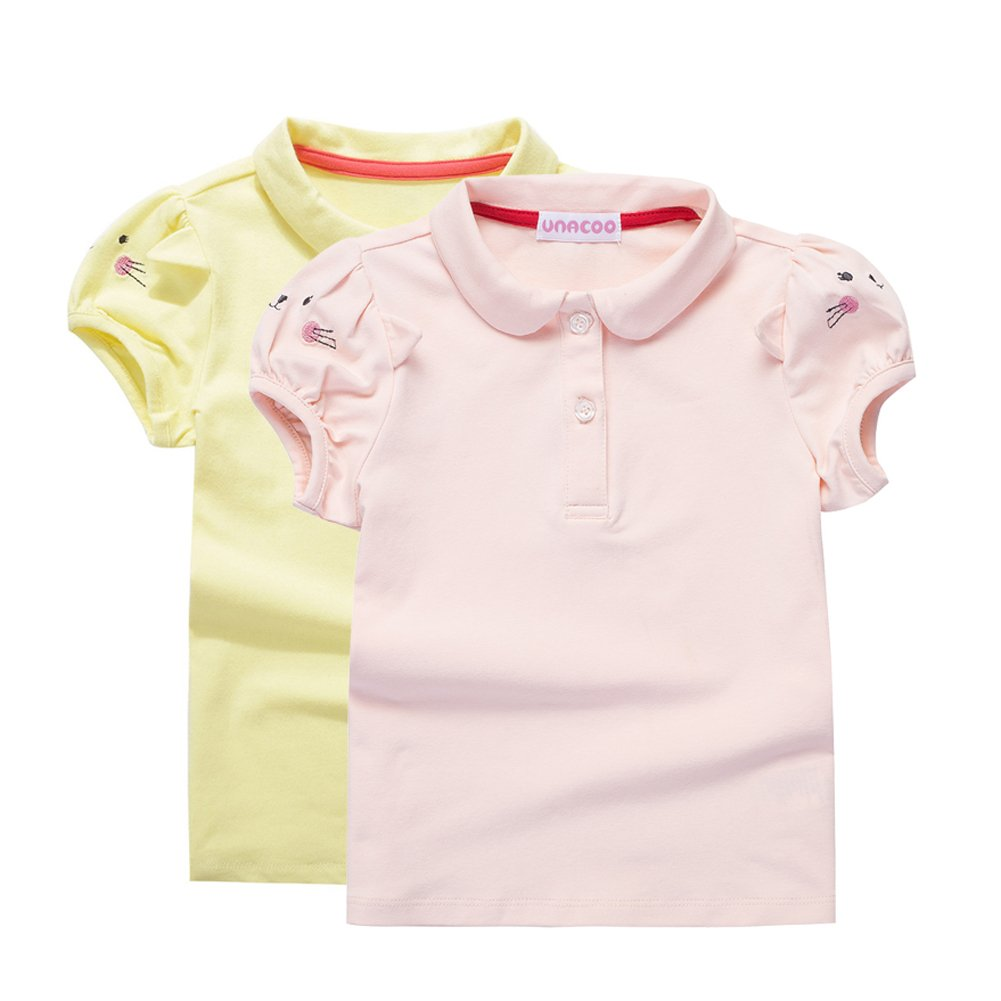 Amazon Unacoo Toddler Girls Polo Shirts With Picot Collar