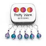 Turquoise and Pink Progress Keepers Jewelry for Crochet (Set of 6 with Tin)