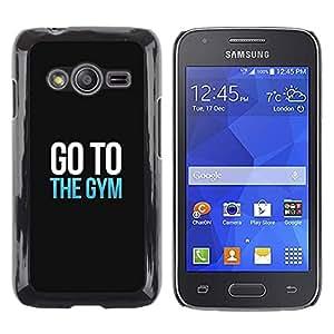 TECHCASE**Cubierta de la caja de protección la piel dura para el ** Samsung Galaxy Ace 4 G313 SM-G313F ** Go To Gym Training Lifting Weights Exercise