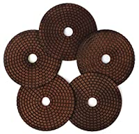 "5"" Copper Diamond Polishing Pads Abrasive Sanding Tool for Granite Marble Engineered Stone(4 Pcs/lot)"