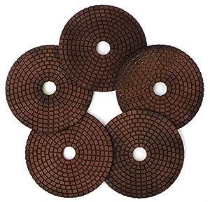 "5"" Copper Diamond Polishing Pads Abrasive Sanding Tool for Granite Marble Engineered Stone(4 Pcs/lot)"