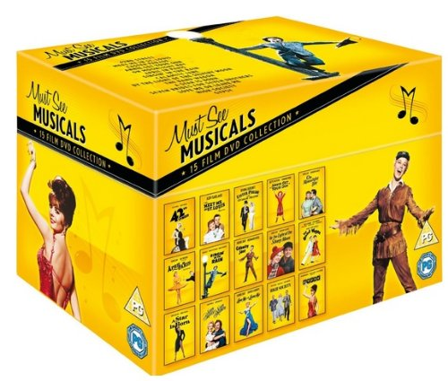 (The Best Hollywood Classic Must See Movie Musicals 15 Discs Collection DVD Box Set: 42nd Street (1933), Meet Me in St. Louis (1944), Easter Parade (1948), Annie Get Your Gun (1950), On Moonlight Bay (1951), April in Paris (1952), Singin' in the Rain (1952), Calamity Jane (1953), On Moonlight Bay (1951), By the Light of the Silvery Moon (1953), The Band Wagon (1953), A Star Is Born (1954), Seven Brides for Seven Brothers (1954), Love Me Or Leave Me (1955), High Society (1956), Gypsy (1962))
