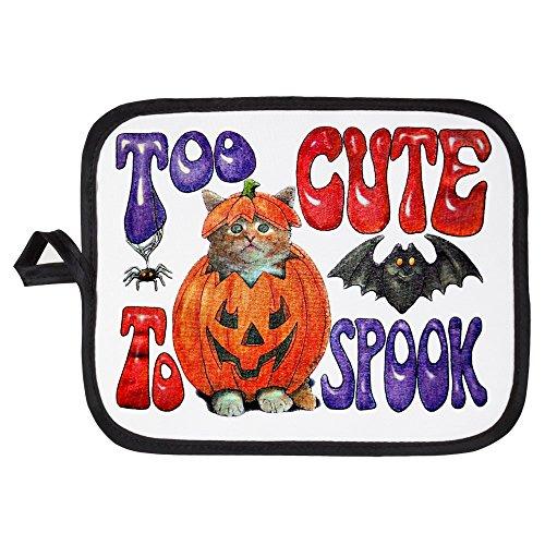 Potholder Pot Holder Halloween Pumpkin Kitten -