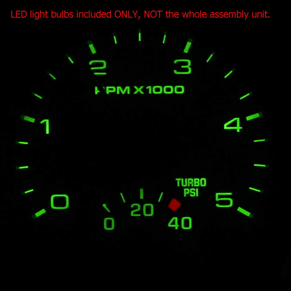 HERCOO Ice Blue LED Light Bulbs for Instrument Gauge Cluster Speedometer Compatible with 2005 2006 2007 Ford F250 F350 Super Duty