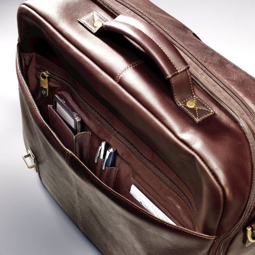 Samsonite Colombian Leather Flap-Over Messenger Bag