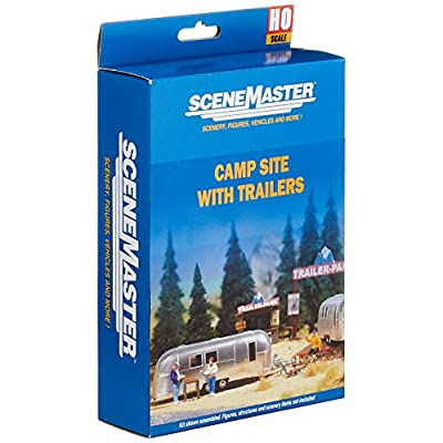 Walthers, Inc. Camp Site with Two Trailers: Toys & Games