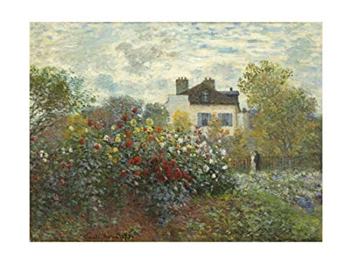 The Artist's Garden in Argenteuil (A Corner of The Garden with Dahlias), 1873 by Claude Monet, Giclee Print, 30 x 40 in