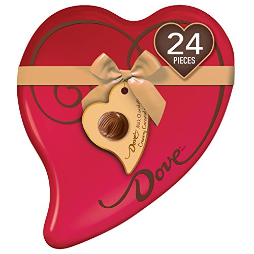 DOVE Valentine's Caramel Chocolate Candy Heart Gift Box 8.13-Ounce ()