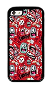 Apple Iphone 5C Case,WENJORS Awesome AAAGHHH PATTERN Soft Case Protective Shell Cell Phone Cover For Apple Iphone 5C - TPU Black