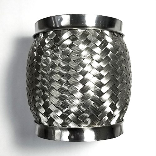 """3"""" Exhaust Flex Coupling Joint Bellow with Interlock Liner - SS304 - Stainless Steel - 3"""" x 4"""" Length"""