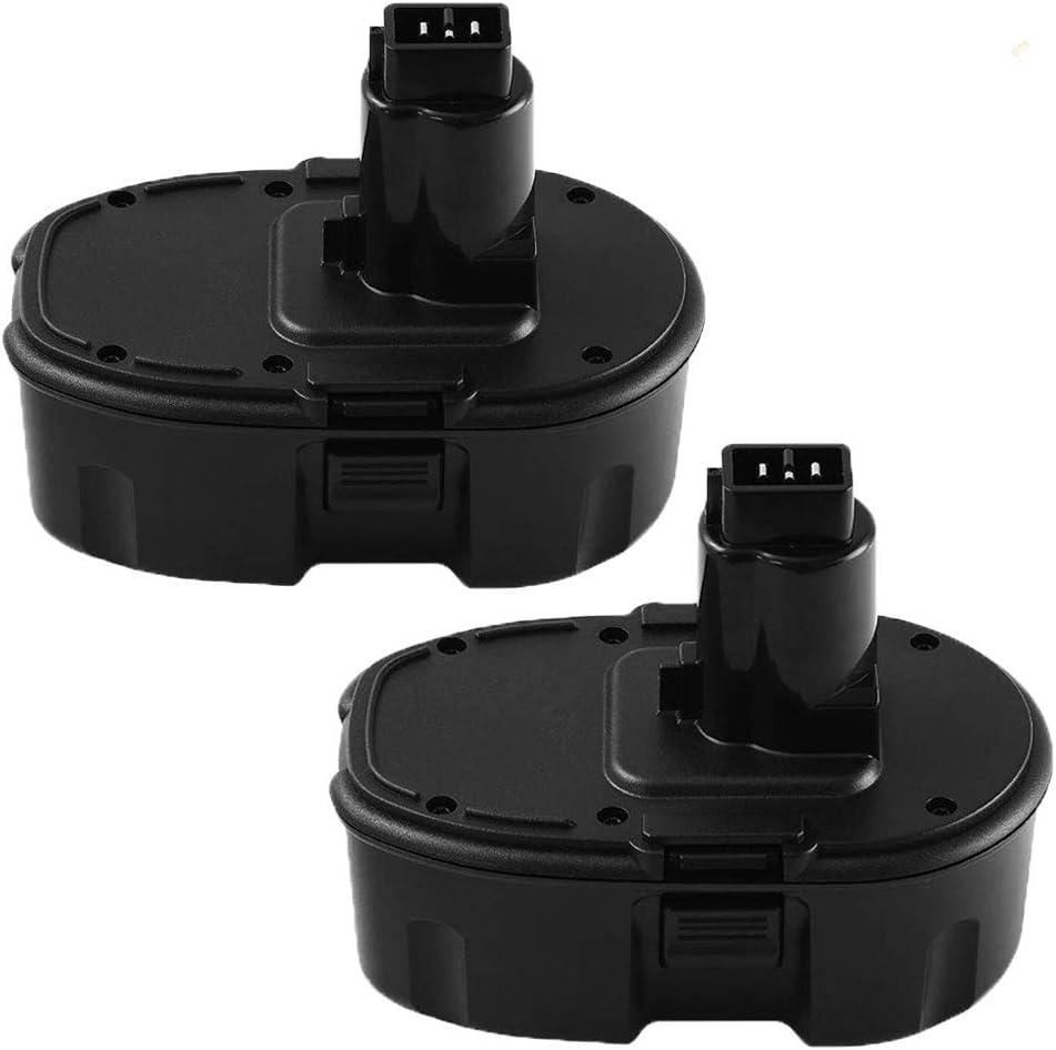 2 Packs 18V 3.6Ah DC9096 Replacement Battery Compatible with Dewalt XRP DC9096 DC9098 DC9099 DE9098 DE9503 DW9095 DW9096 DW9098 Cordless Power Tools