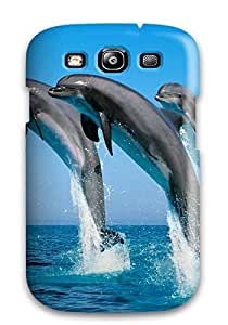 Charejen Perfect Tpu Case For Galaxy S3/ Anti-scratch Protector Case (dolphins)