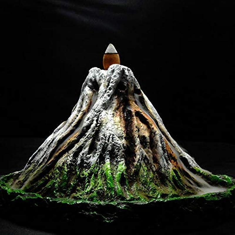 難民規範嫌がるPHILOGOD 逆流香炉 樹脂プロセス手塗り富士山香炉 お香 香皿ホルダー ホームデコレーション香置物 香立て