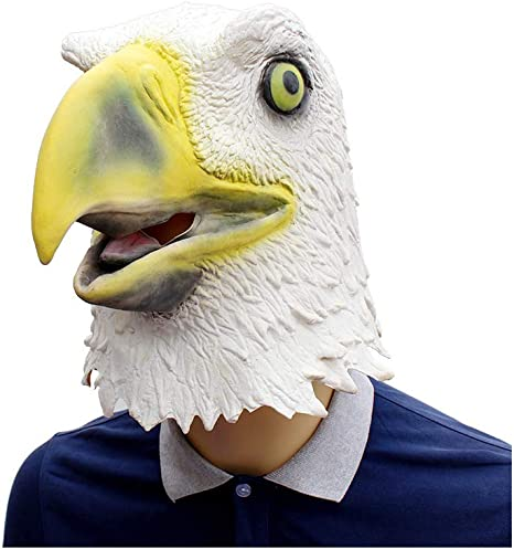 CX TECH Eagle Head Masks Latex Animal Head Freedom Eagle Bird ...