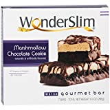 WonderSlim Low-Carb Gourmet High Protein Bar/Diet Bars with 10g Protein - Trans Fat Free, Cholesterol Free, Marshmallow Chocolate Cookie (7 count)