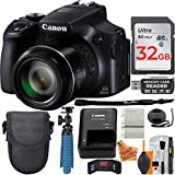 Canon Powershot SX60 Digital Camera along with 32GB SDHC Memory Card and Deluxe Accessory Bundle with Super Savings Cleaning Kit