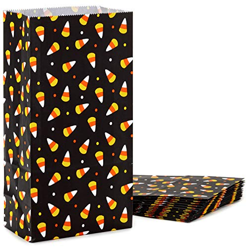 Halloween Treat Bags For Students (Hallmark Halloween Party Favor and Wrapped Treat Bags (15 Ct., Candy Corn) for Trick or Treating, Class Parties, Crafts and)