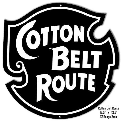 Cotton Belt Route Reproduction Railroad Metal Sign 13.5x13.5 (Belt Cotton Railroad)