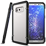 Shock-proof Hybrid Case Slim Fit Armor Bumper Cover Protective Skin w Drop Protection for AT&T Samsung Galaxy S8 - Boost Mobile Samsung Galaxy S8 - Cricket Samsung Galaxy S8