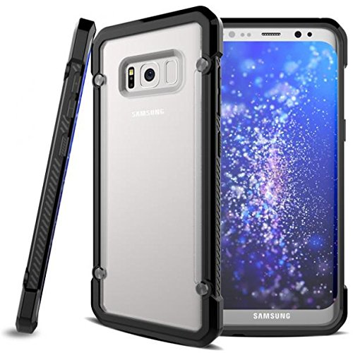 Shock-proof Hybrid Case Slim Fit Armor Bumper Cover Protective Skin w Drop Protection for AT&T Samsung Galaxy S8 - Boost Mobile Samsung Galaxy S8 - Cricket Samsung Galaxy S8 by AccessoryChoice