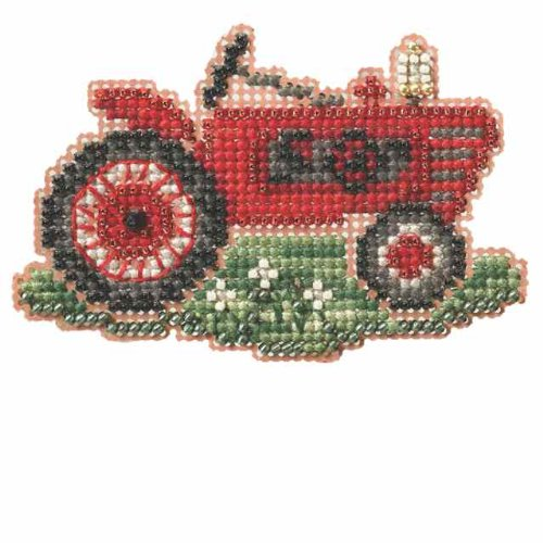 Grandpa's Tractor Beaded Counted Cross Stitch Kit MH184204 Mill Hill 2014 Autumn -