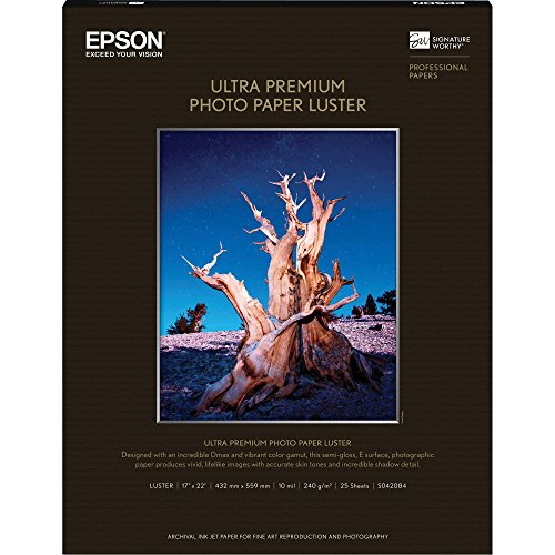 Epson Ultra Premium Photo Paper LUSTER (17x22 Inches, 25 Sheets) ()