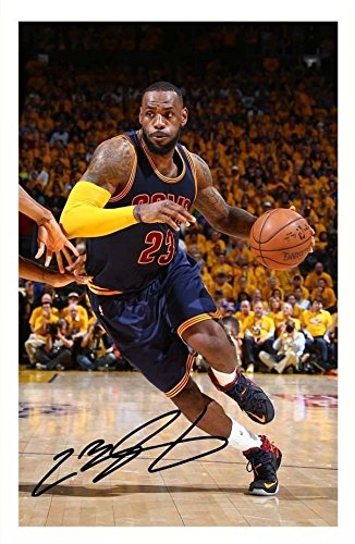 a2efe73326e Lebron James - Cleveland Cavaliers Signed Autographed A4 Photo Print Poster