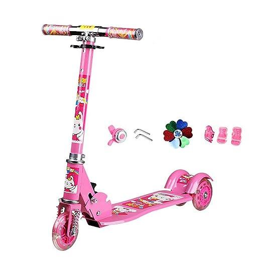 Scooter Patinete Plegable para niños con Manillar Ajustable ...