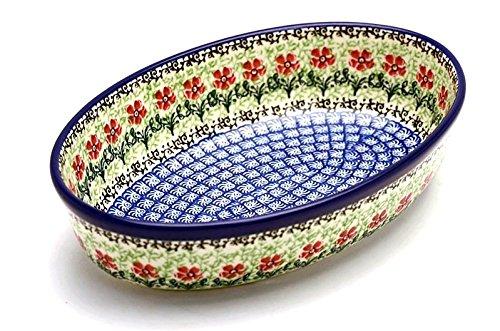 Polish Pottery Baker - Oval - Small - Maraschino
