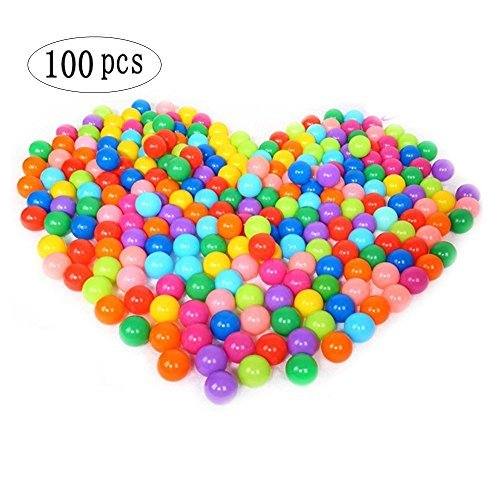 Accguan 100pcs Colorful Ball Fun Ball Soft Plastic Ocean Ball Baby Kid Toy Swim Pit - Playhouse Balls Fun