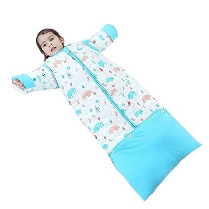 FJY Saco De Dormir para Niña Y Niño, Saco De Dormir para Bebés Invierno Manga