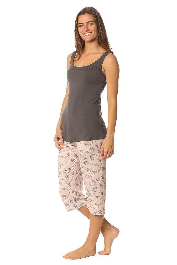 Majamas Breakfast PJ Womens Cropped Nursing//Maternity Pajama Set Made in The USA