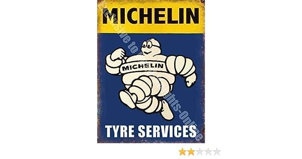 Hombre Michelin Neumático Servicios Coche Vintage Garaje ...