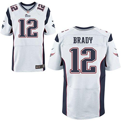 12 Brady Tom Trikot New England Patriots Jersey American Football Shirt Mens Elite White Size M(40)