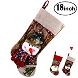 great traditional home office decorating ideas Christmas Stocking 3D Snowman Holiday Week Christmas Day Gift Bag Plush Classic Traditional Adorable Cute Holiday Decoration Ornament Decorate Your Home for Party Office Xmas Tree 18 inch