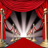 GladsBuy Red Carpet 5' x 5' Computer Printed Photography Backdrop Stage Carpet Theme Background ZJZ-449