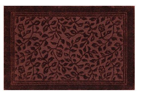 Mohawk Home Wellington Claret Floral Vine Bath Mat, 5'x7', Burgundy Red ()
