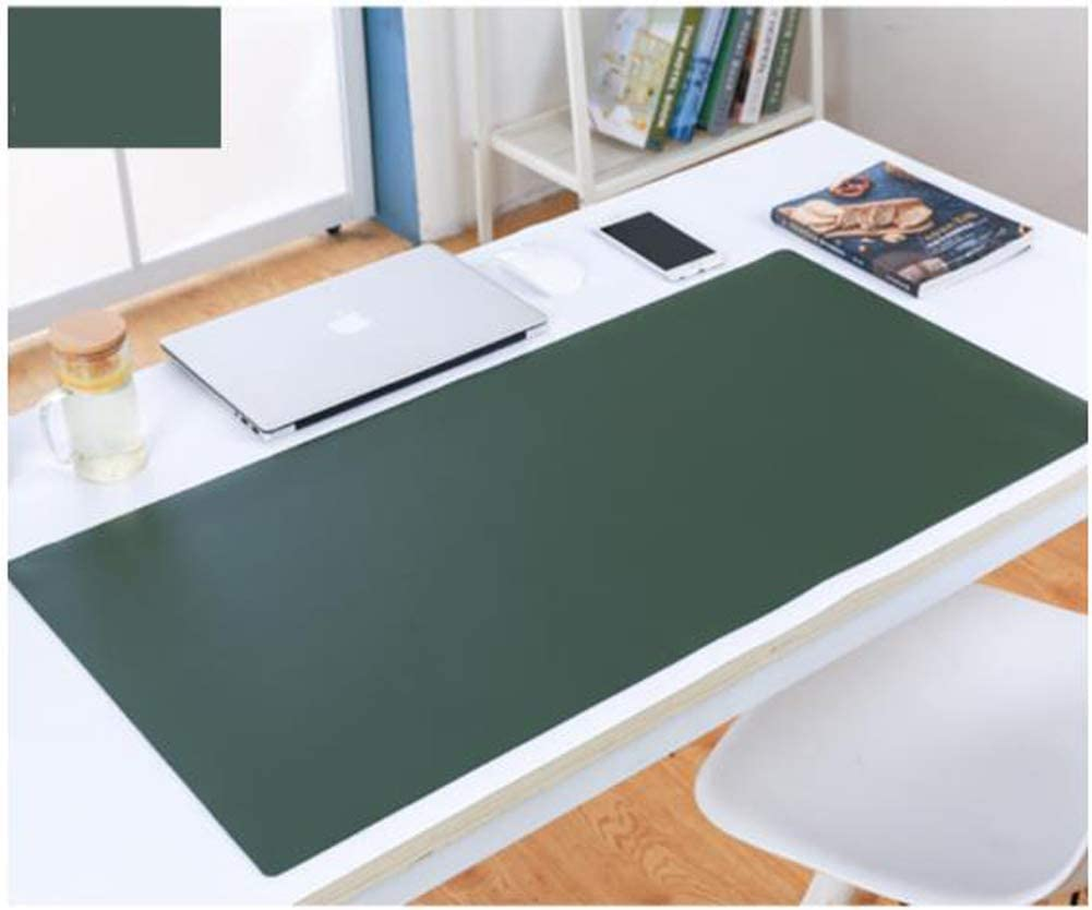 Multifunktionales Office Mauspad,hochwertige Tischauflage f/ür B/üro und Schule,abwischbar,rutschfest,Zweiseitig Nutzbar Wasserdichte Schreibtischunterlage aus PU Leder-Orange-65x30cm