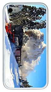 customizable covers winter locomotive TPU White Case for iphone 4/4S